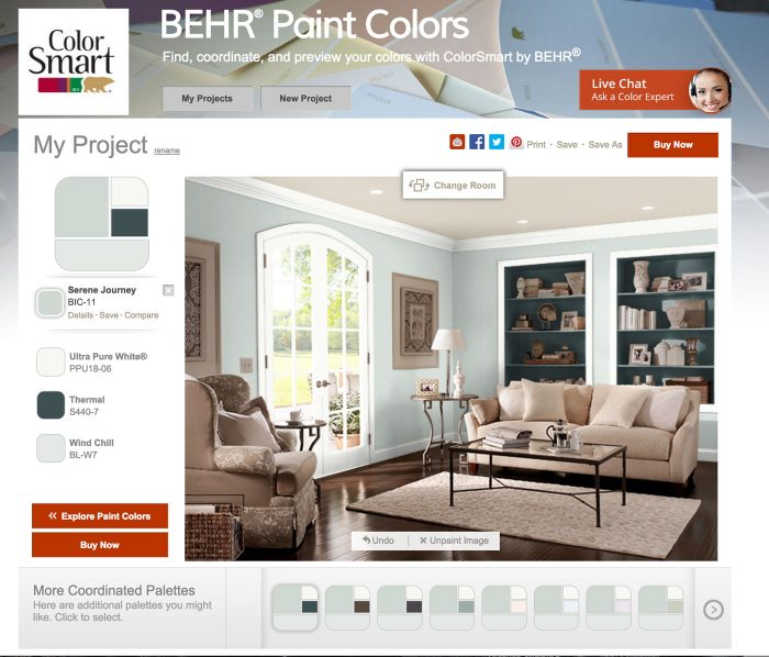 Living Room Decor Ideas, The Paint Color On The Walls Is Serene Journey By  BEHR Part 92