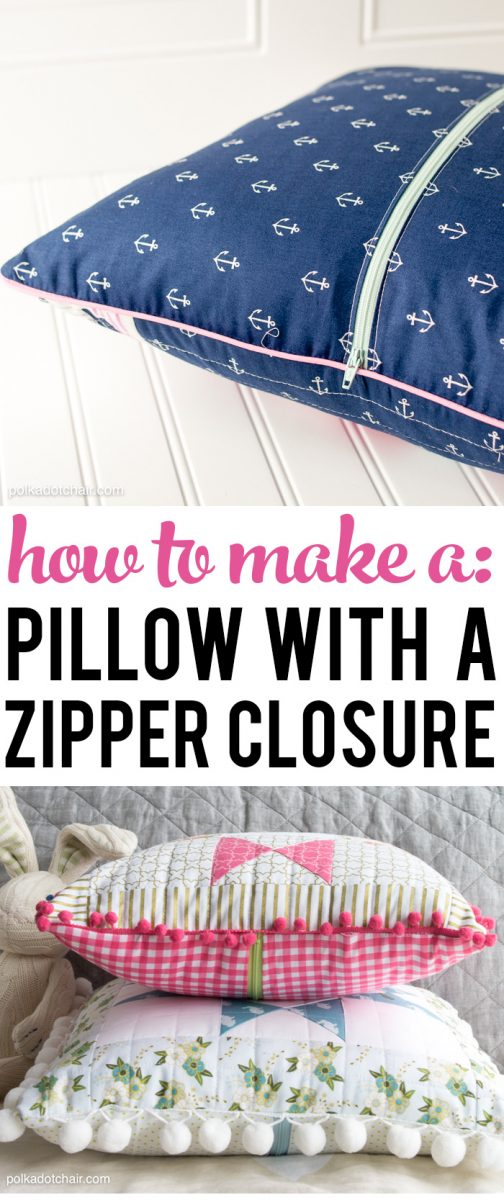 How to sew a Pillow with a zipper closure in the back