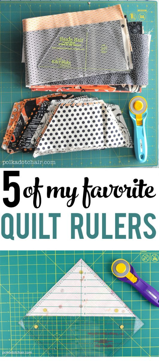 5 of my Favorite Quilt Rulers!!