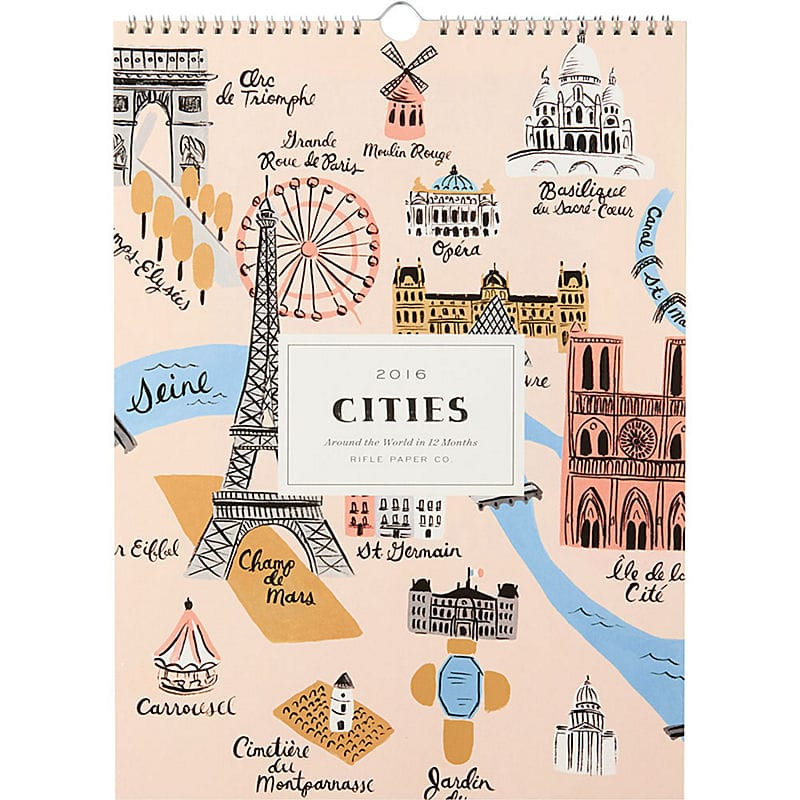 Rifle Paper Co. 2016 Cities Calendar