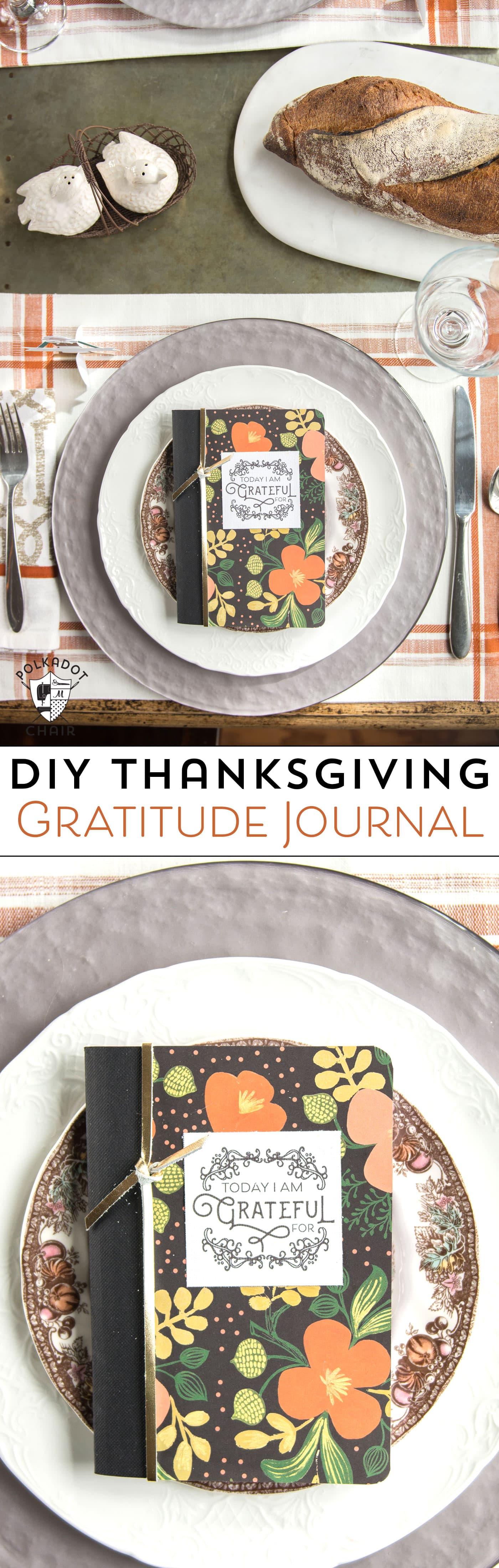 DIY Thanksgiving Gratitude Journal \u0026 Free Printable