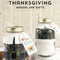Cute Thanksgiving Pilgrim Mason Jar Gift Idea, would be cute for a hostess or teacher gift.