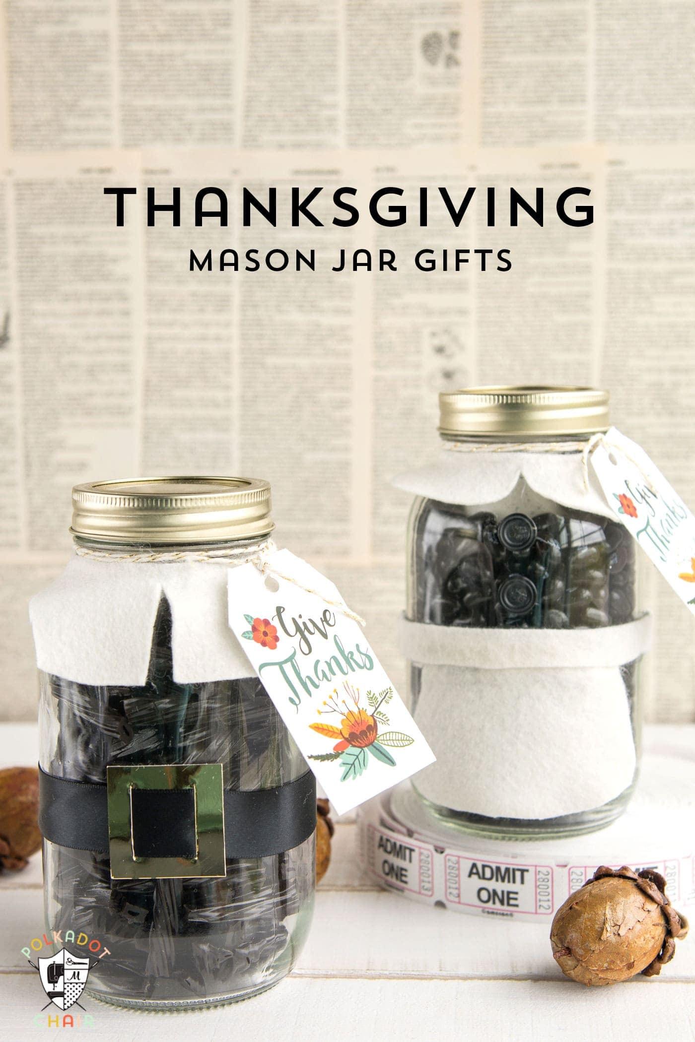 thanksgiving mason jar gift idea the polka dot chair. Black Bedroom Furniture Sets. Home Design Ideas