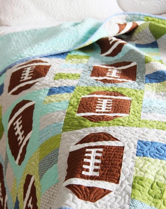 Touchdown Football Quilt Pattern