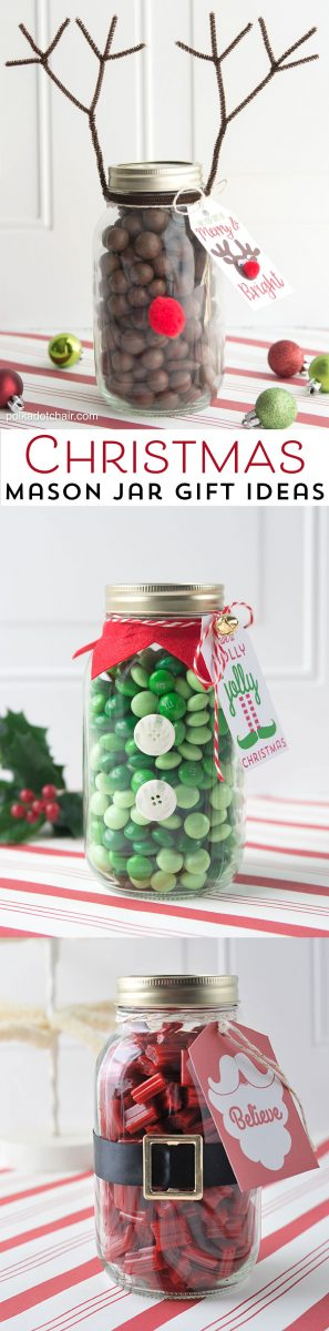 Reindeer Mason Jar Christmas Gift idea, so cute and easy. Would make a fun neighbor or teacher gift!