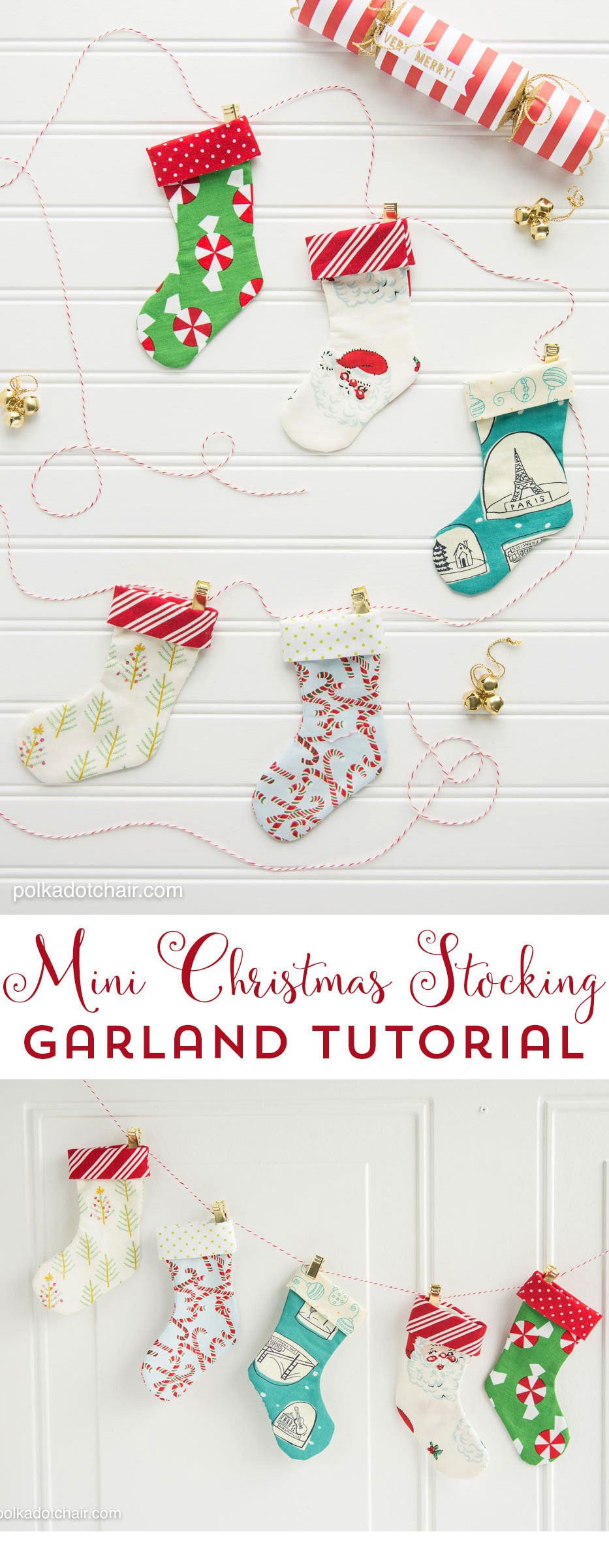 Diy Christmas Stocking Garland Sewing Pattern