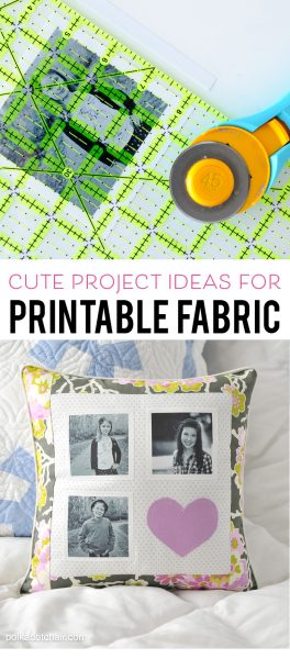 How to use Printable Fabric and ideas for cute projects (like photo quilts) to make with it.