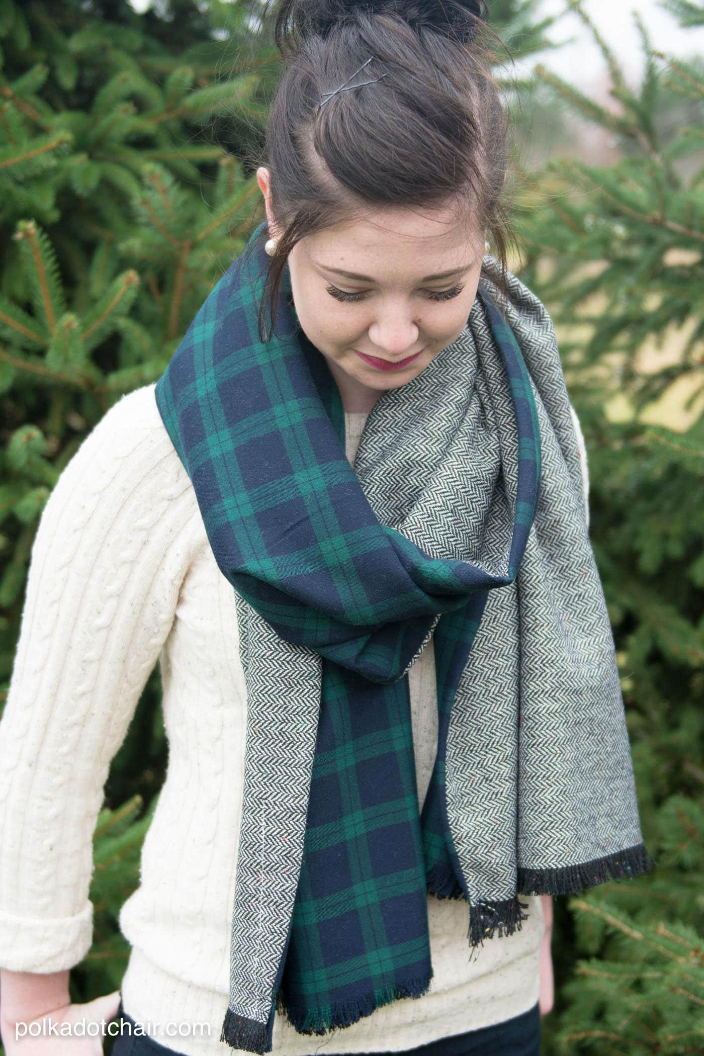 diy-wool-scarf - The Polka Dot Chair