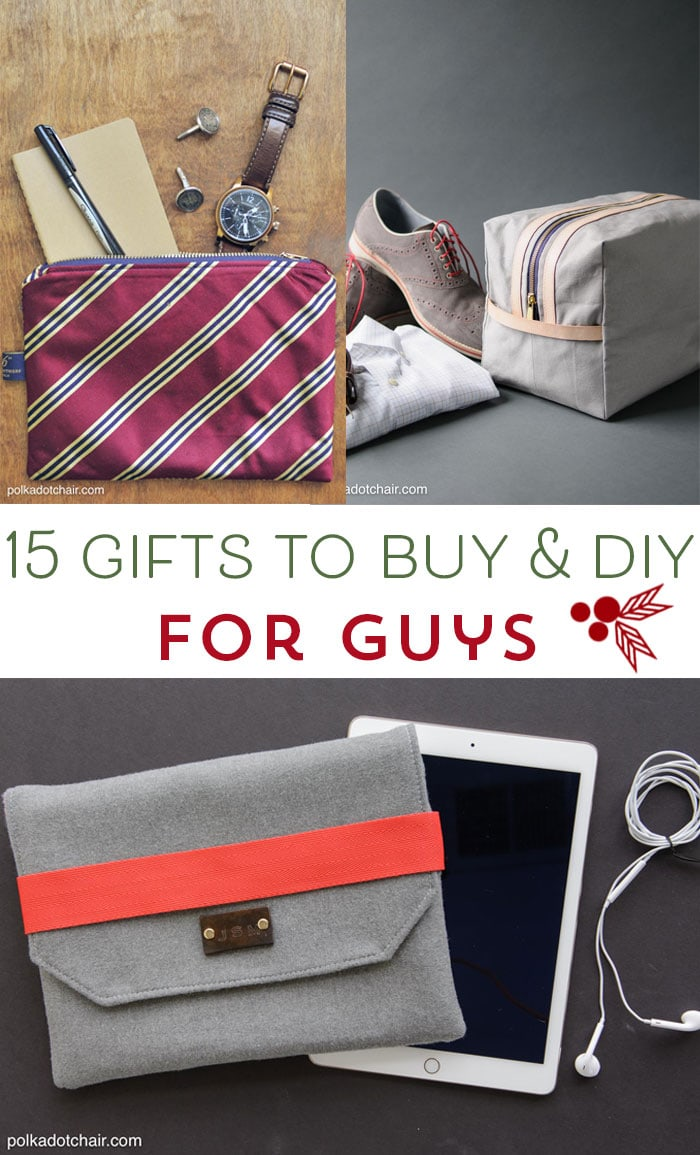 15 Gifts for Guys to DIY and Buy - The Polka Dot Chair