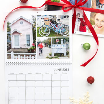 "Create a ""Favorite Places"" calendar as a gift for far away family and friends. This would also be a nice grandparent gift"