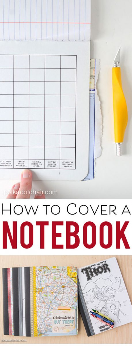 How to cover a composition notebook. Makes a great gift, you can customize it any way you like!
