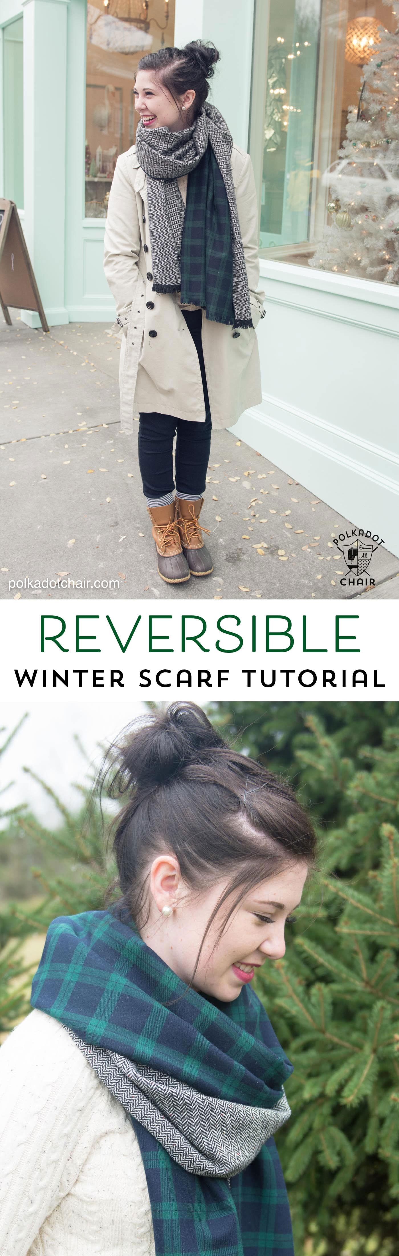 Free sewing pattern for DIY oversized winter wool scarf with fringe... looks so warm and cozy