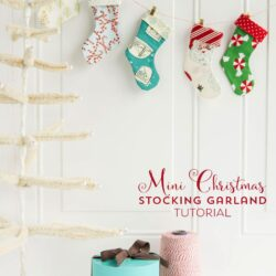 Mini Christmas Stocking Garland Sewing tutorial by Melissa of polkadotchair.com