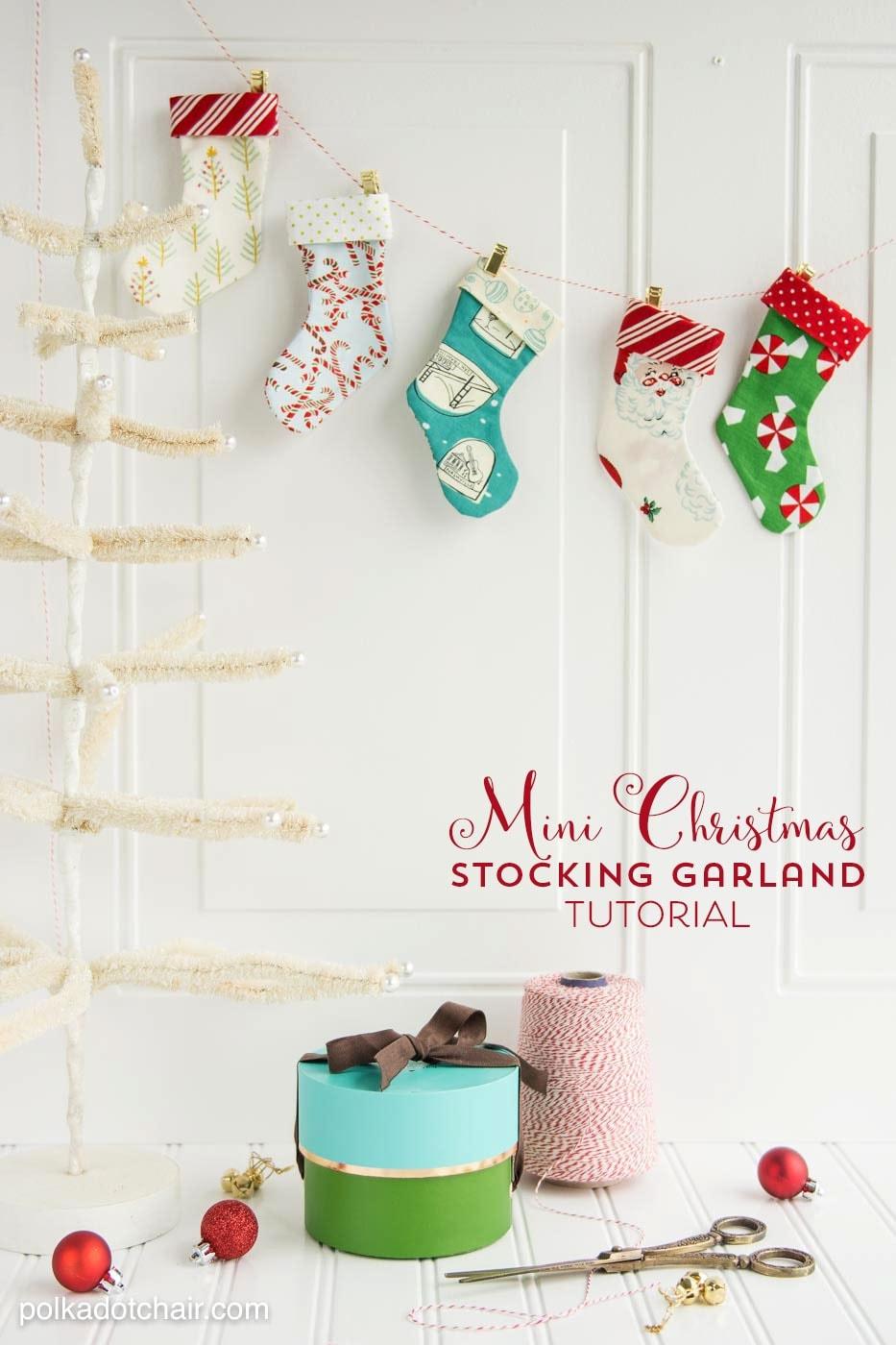 Diy Christmas Stocking Garland Sewing Pattern