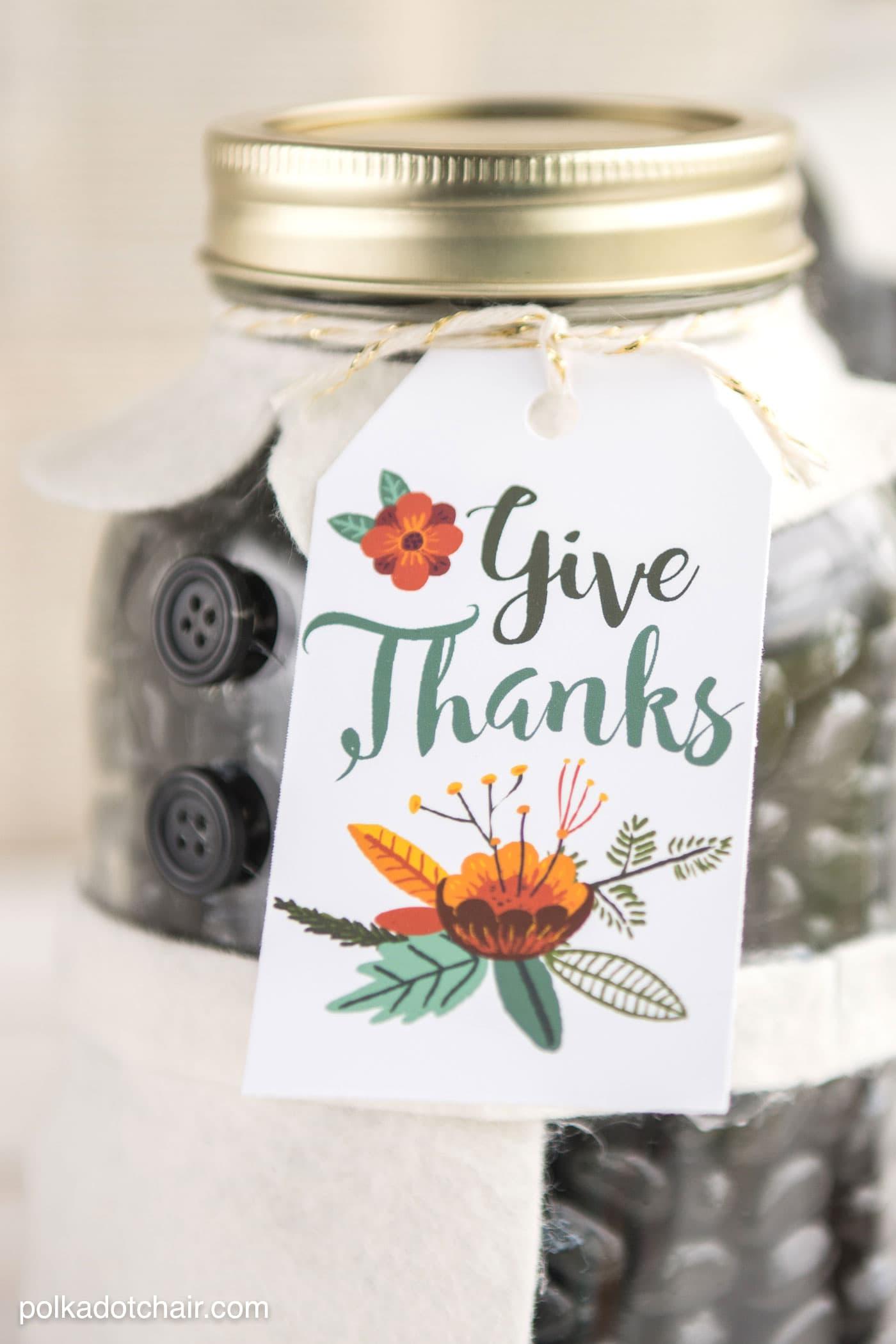 Thanksgiving mason jar gift idea the polka dot chair