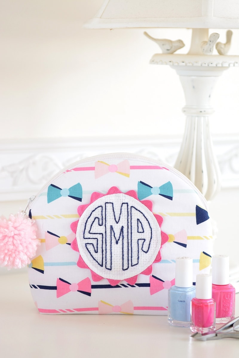 Arch Top Monogram Zip Pouch Sewing Pattern