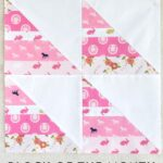 December Block of the Month; String Half Square Triangle Quilt Block