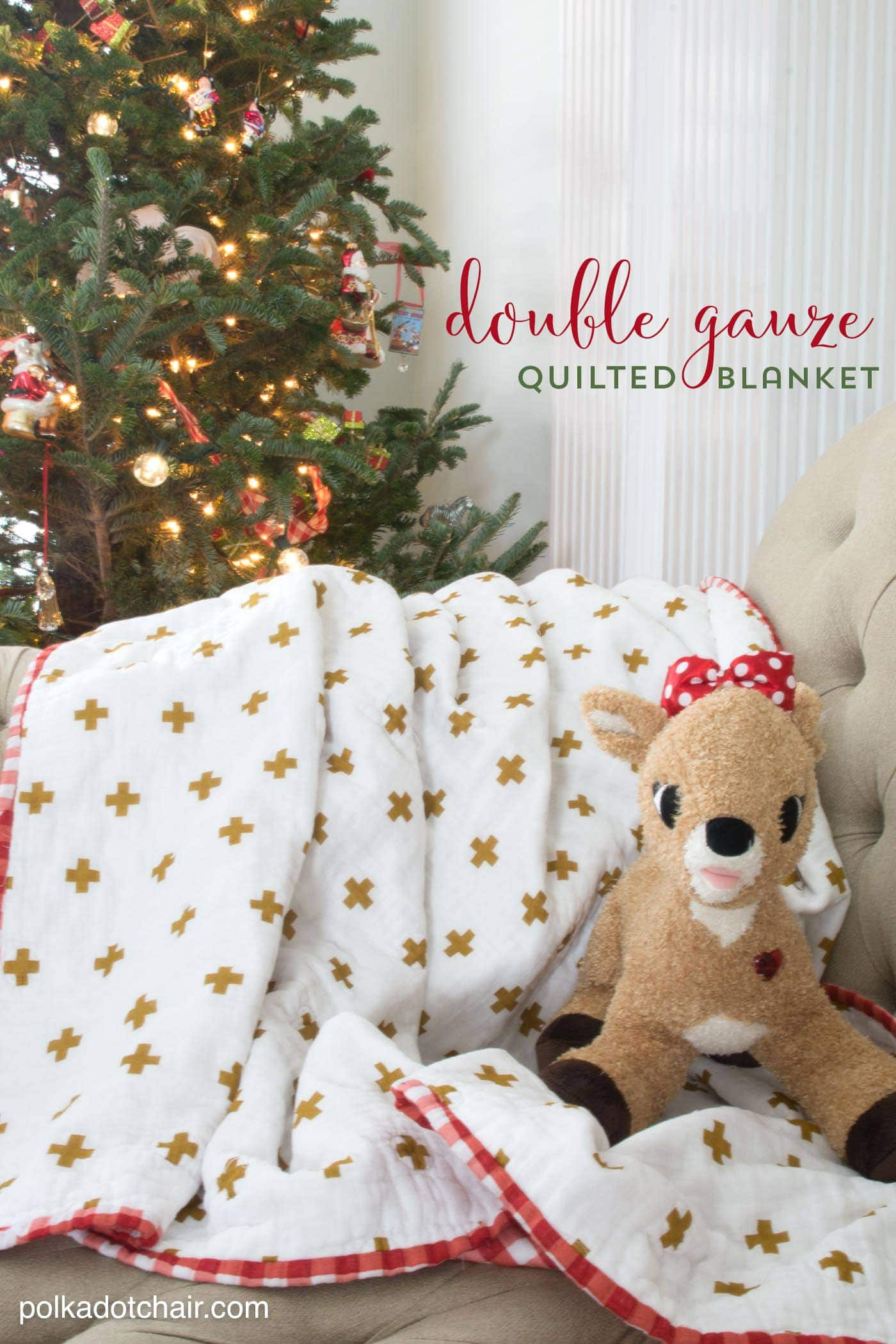 Double Gauze Quilted Blanket Tutorial The Polka Dot Chair
