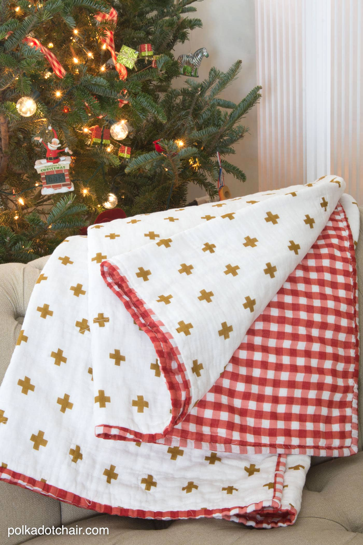 Christmas Light Blanket
