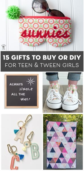 15 Gift Ideas for Teen Girls to DIY and Buy