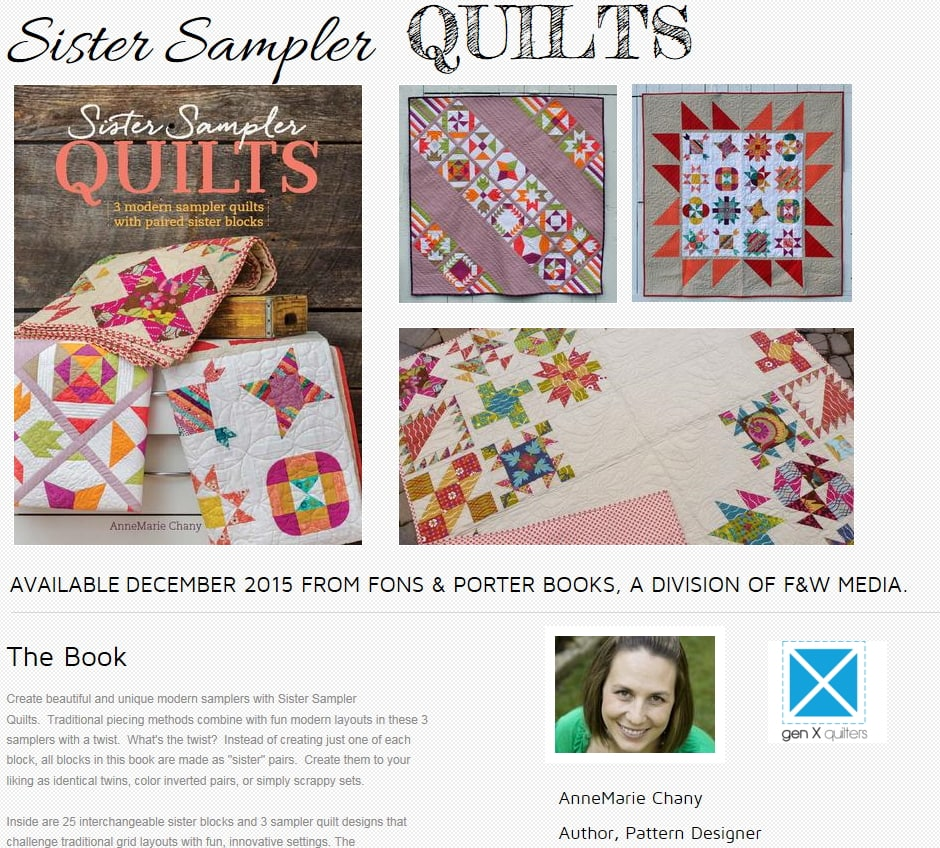 Review of Sister Sampler Quilts book - lots of really cute quilt block ideas and patterns