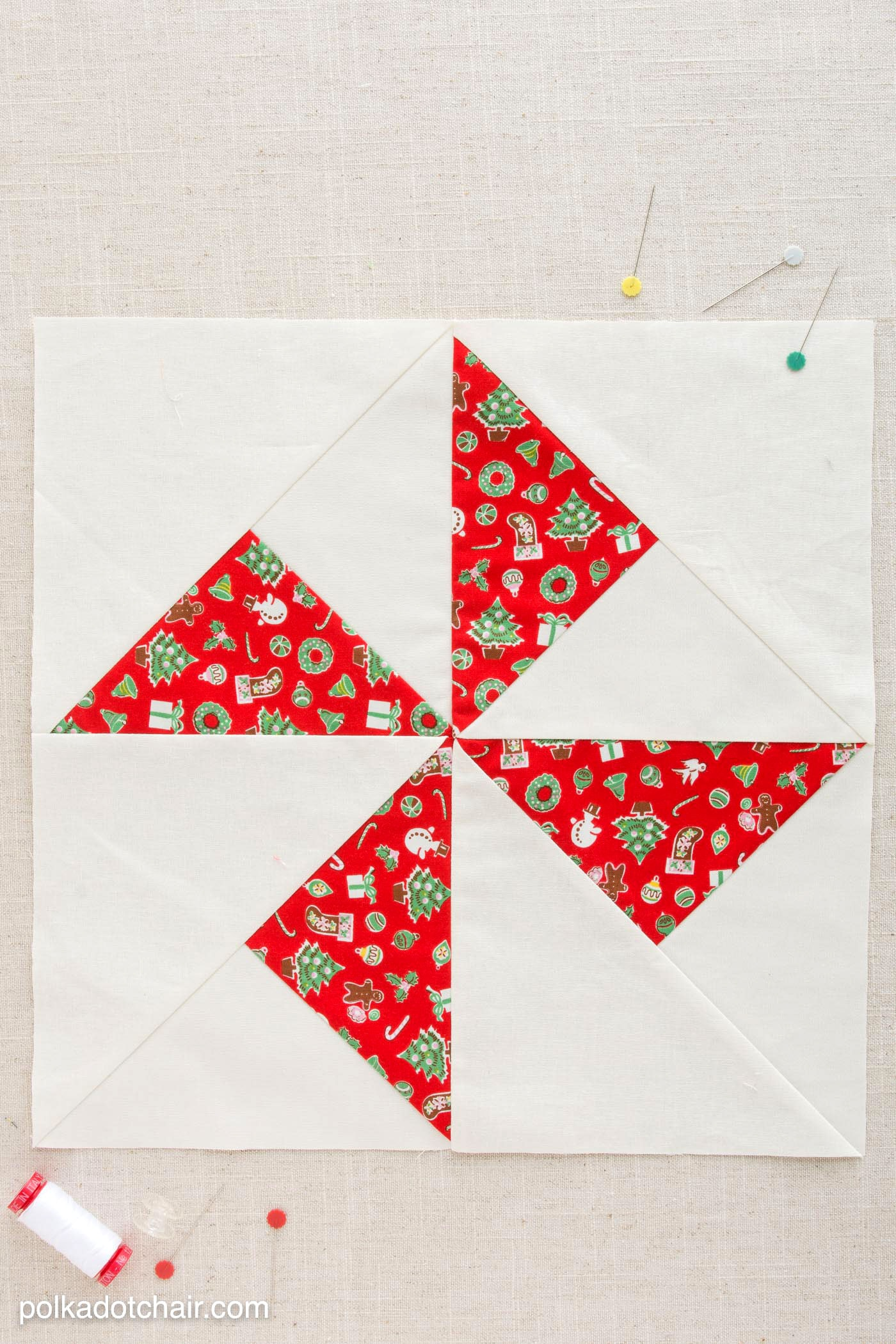 January Block Of The Month Turnstile Quilt Block The