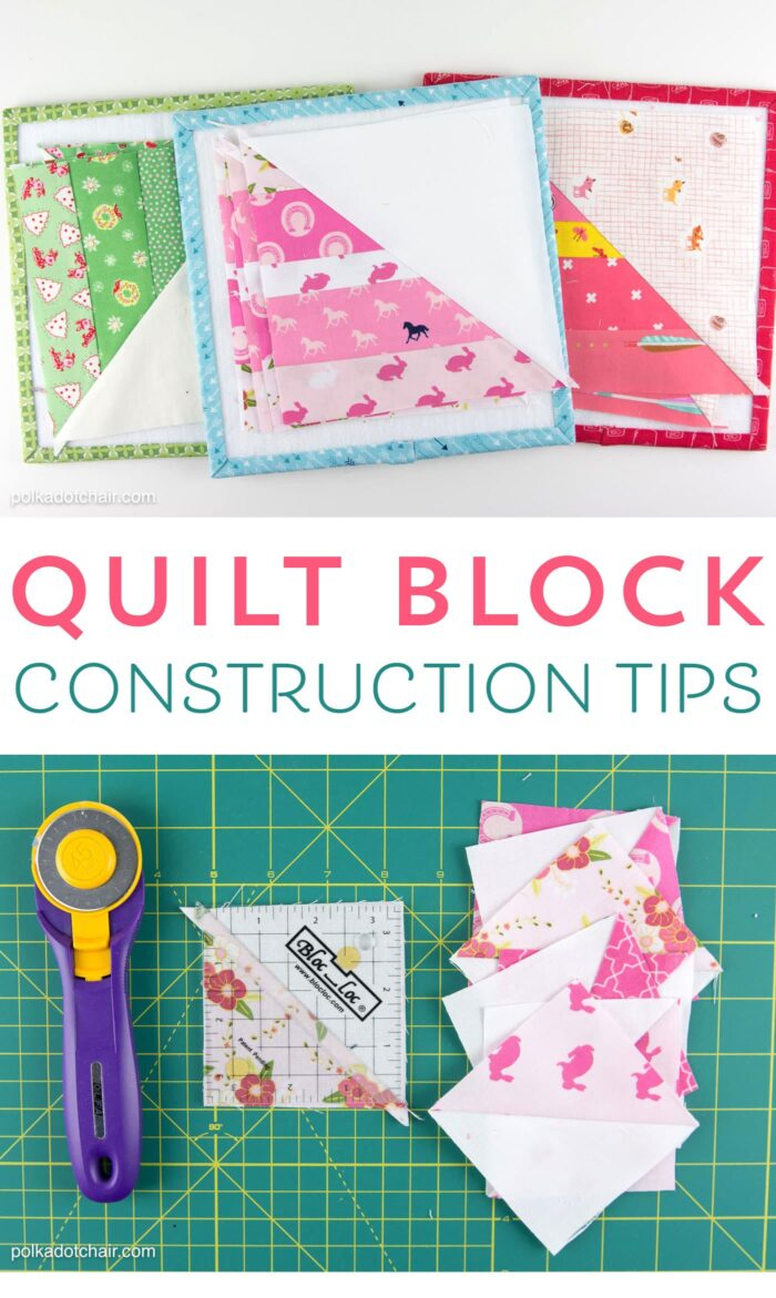 Seasonal safari quilt row along row 4 the polka dot chair for Construction tips and tricks