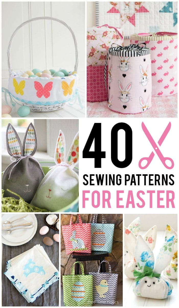 40 easter sewing projects ideas the polka dot chair over 40 sewing patterns and tutorials perfect for easter everything from easter basket sewing patterns negle Gallery