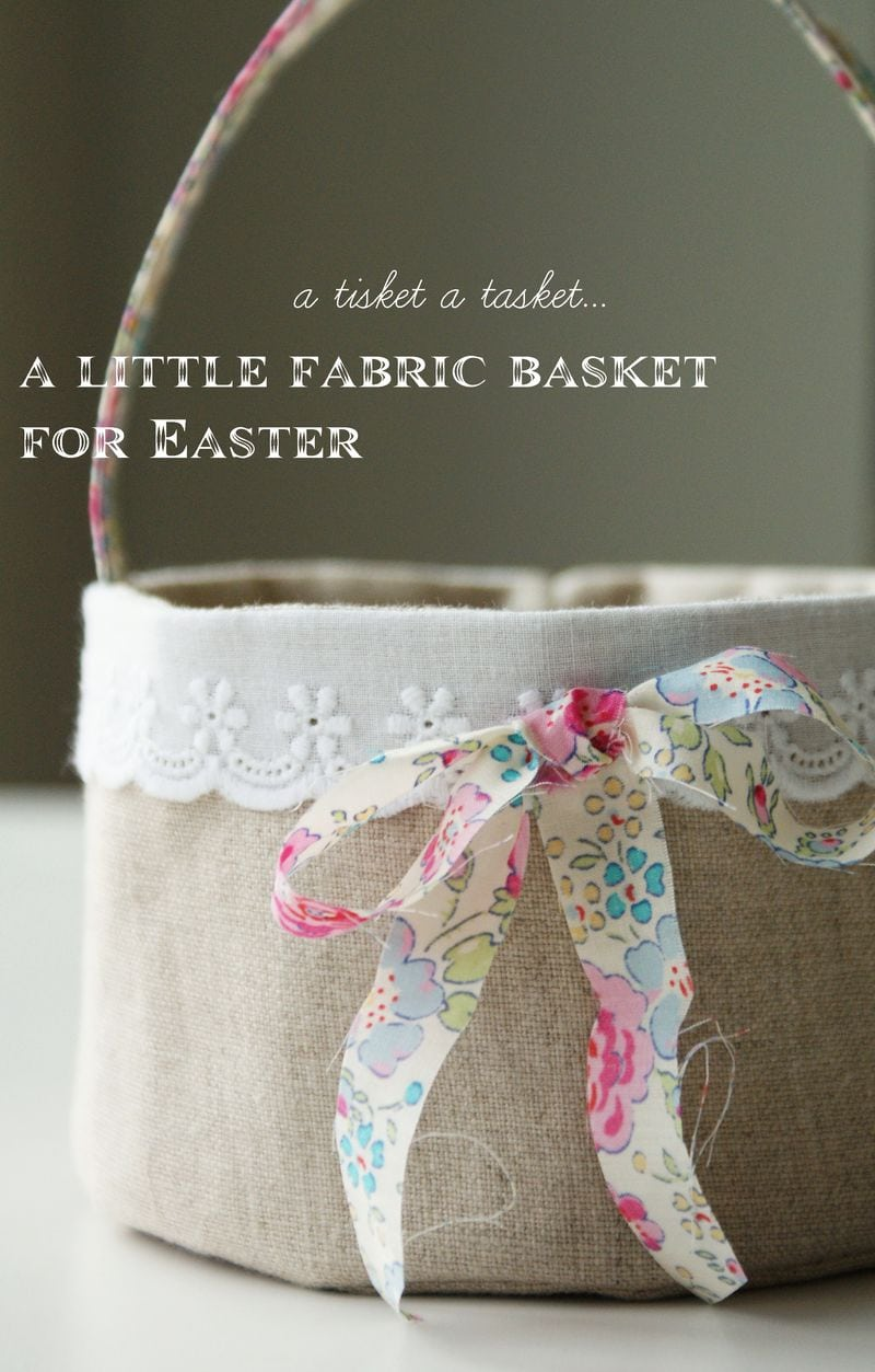 40 easter sewing projects ideas the polka dot chair easter basket sewing pattern with liner by nana and company negle Gallery