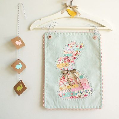 Scrappy Easter Bunny Wall Hanging tutorial by Nana and Company
