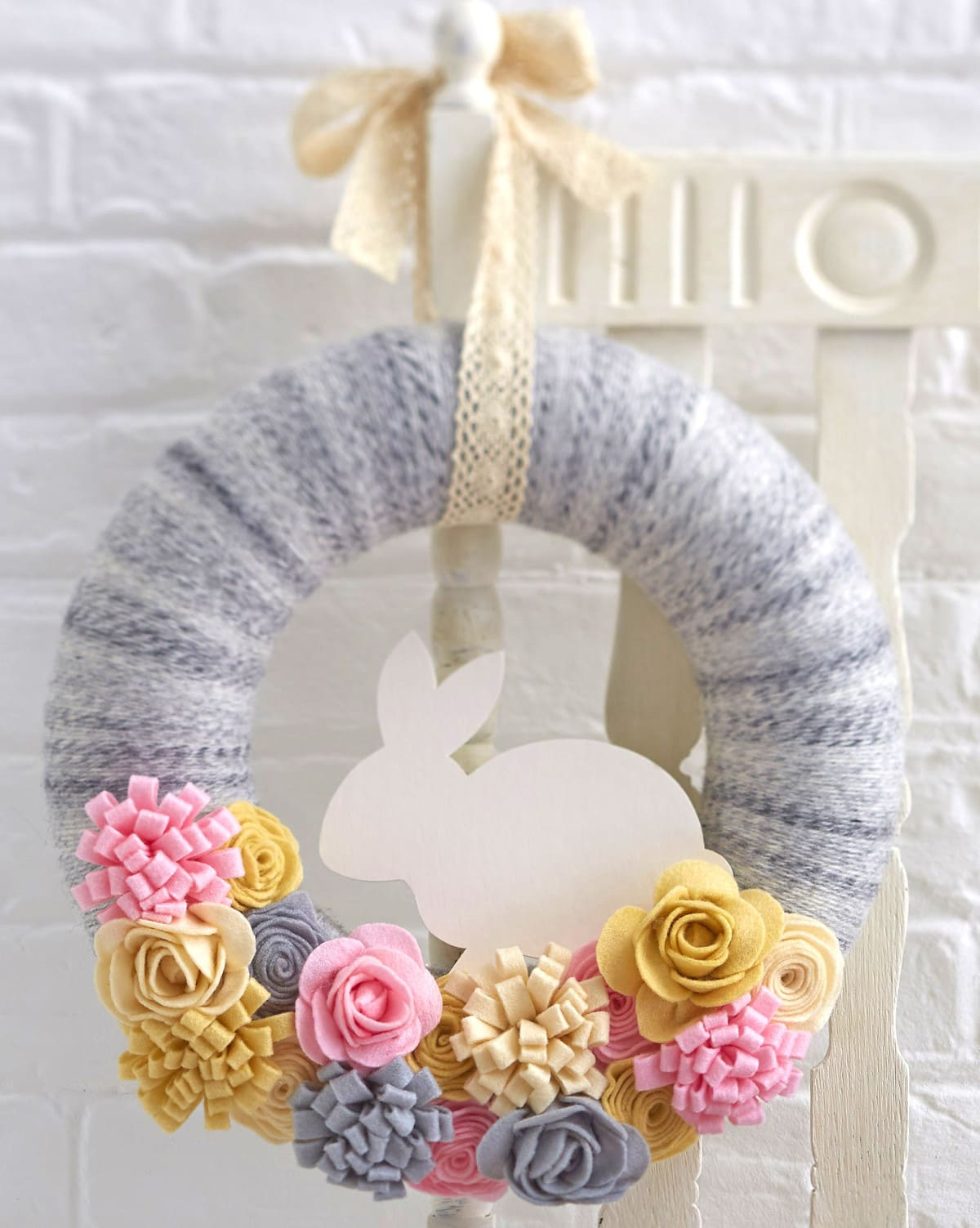 40 easter sewing projects ideas the polka dot chair easter bunny felt easter wreath by hobbycraft negle Gallery