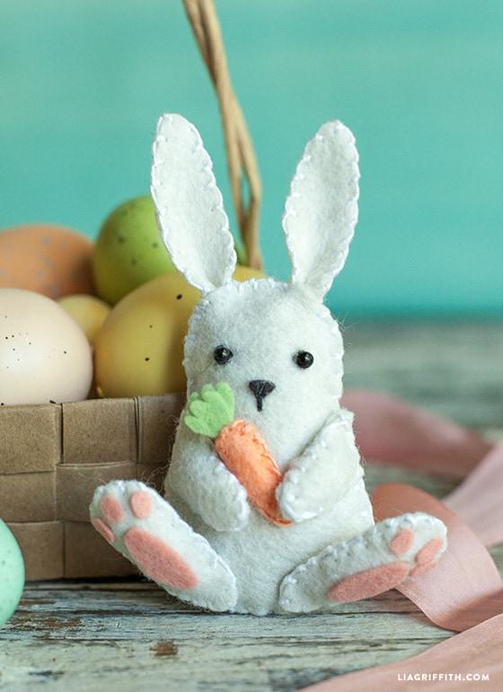 DIY Felt Easter Bunny Pattern by Lia Griffith