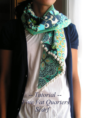 Scarf made from 5 fat quarters