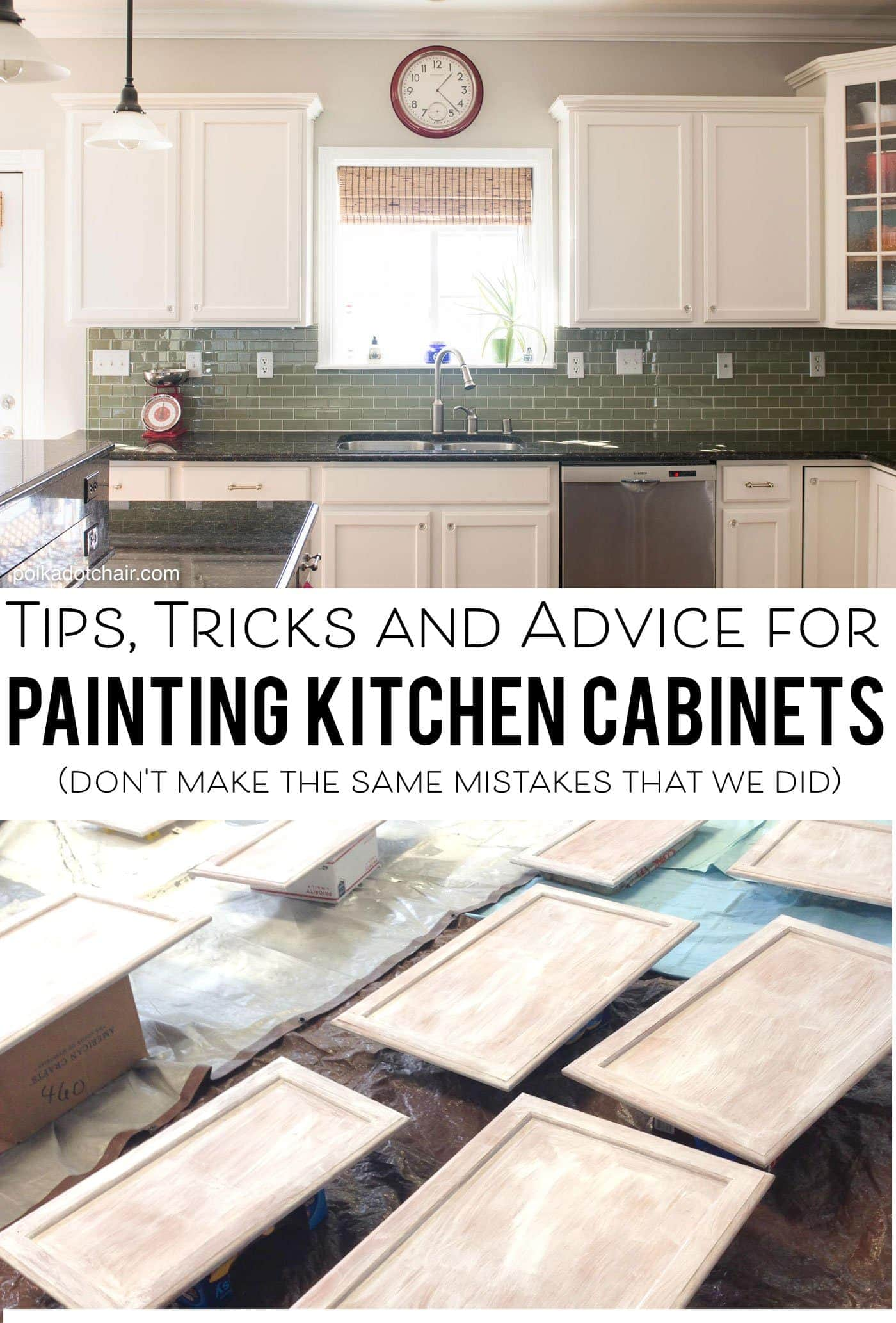 Tips for painting kitchen cabinets the polka dot chair for Kitchen cabinets painters
