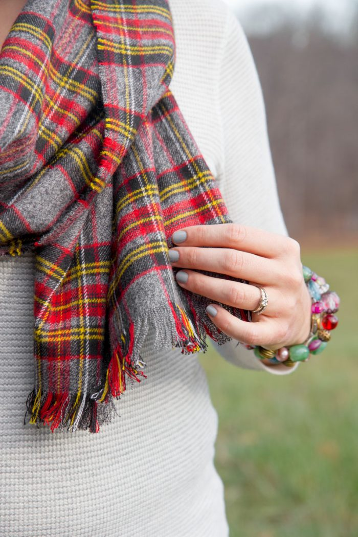 No Sew Flannel Blanket Scarf Tutorial