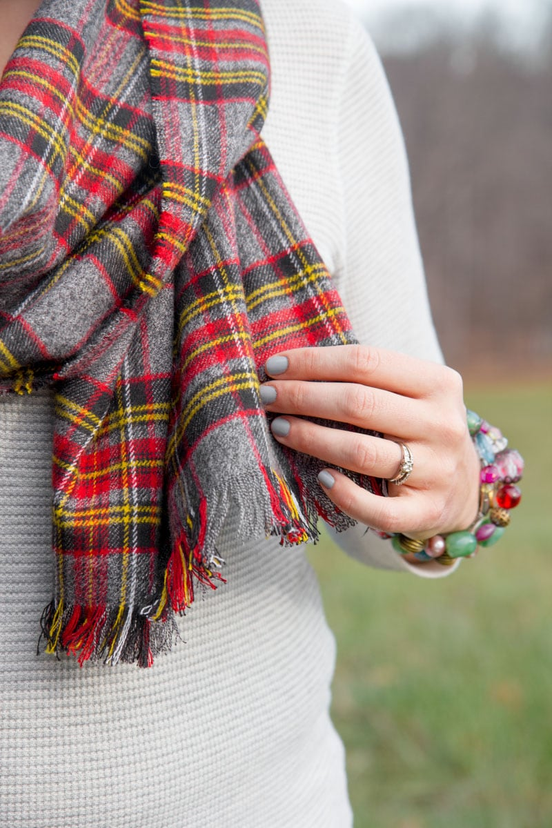 No Sew Flannel Blanket Scarf Tutorial