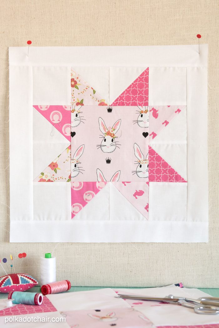 Free Pattern for a Star Quilt Block on polkadotchair.com