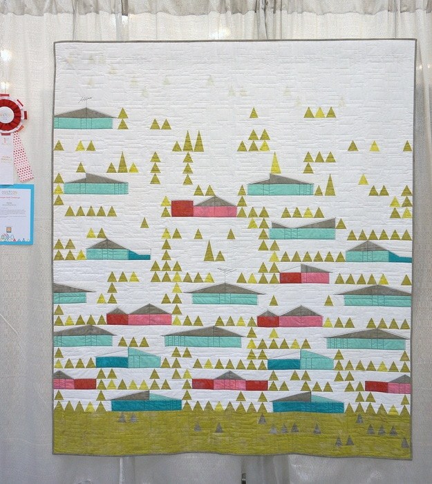 Eichler Houses by Mickey Beebe at QuiltCon 2016