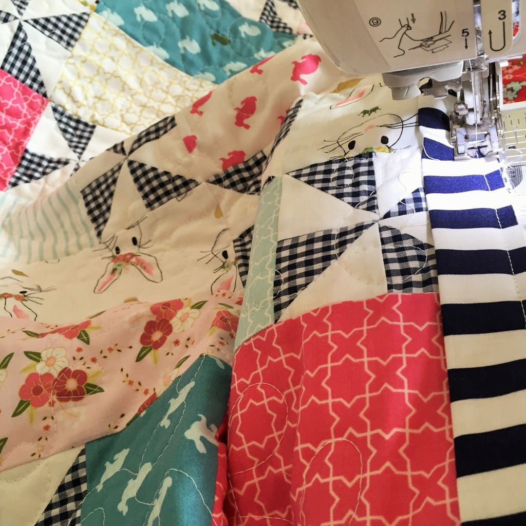Pinwheel Quilt by Emily Ann's Kloset using Wonderland Fabric