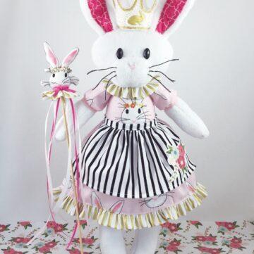 Bunny Softie Pattern and Wonderland Blog Hop!