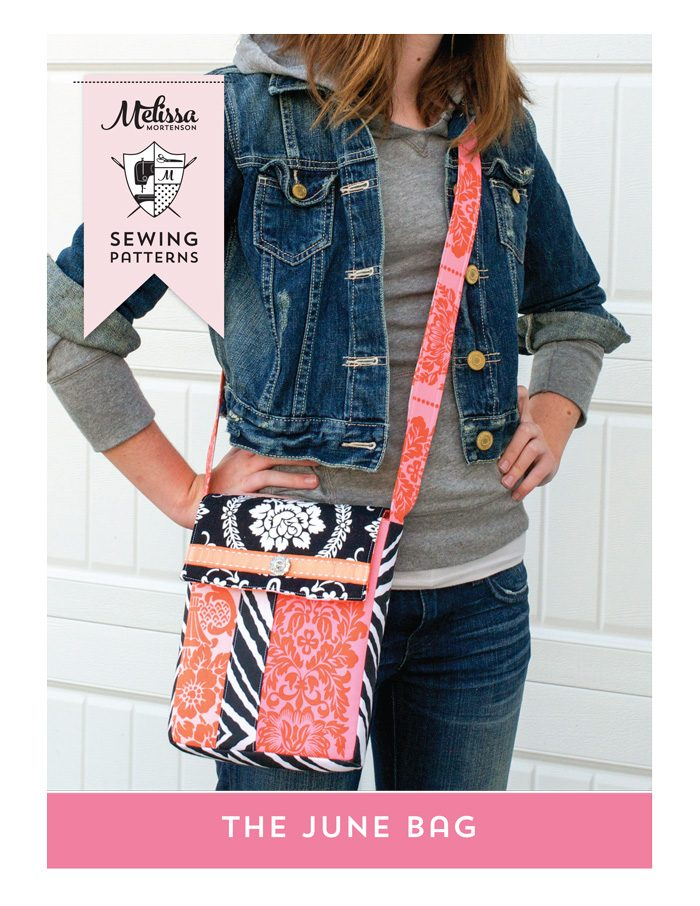 The June Bag PDF Sewing Pattern, a super cute cross body purse pattern that is great for travel!