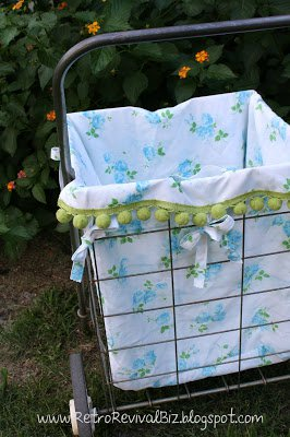 Vintage Sheet Shopping Cart Liner