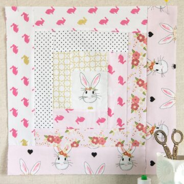 April Block of the Month; Log Cabin Quilt Block Tutorial