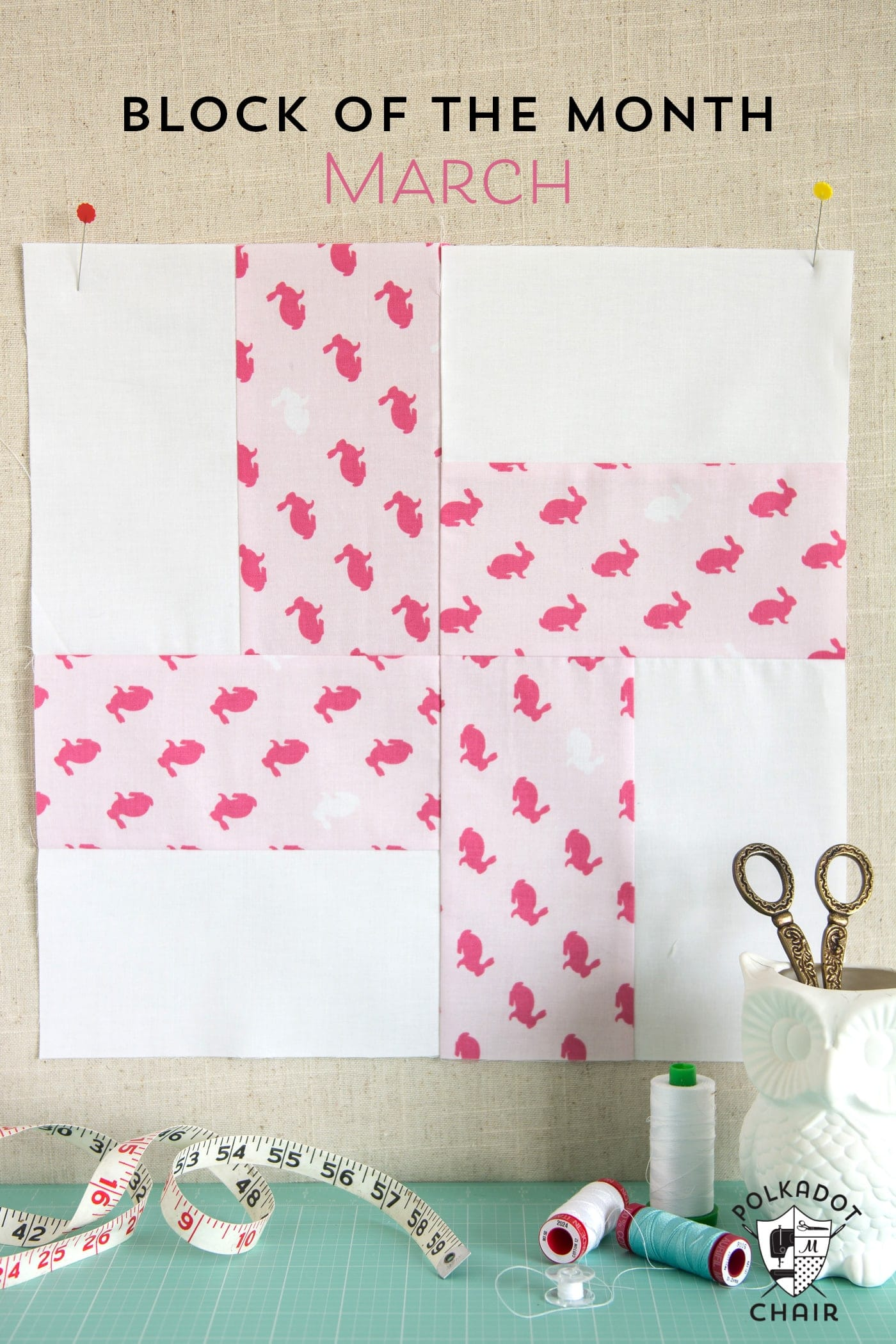 March Block of the Month; A Keystone Quilt Block