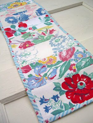 Handmade Vintage Tablecloth Table Runner