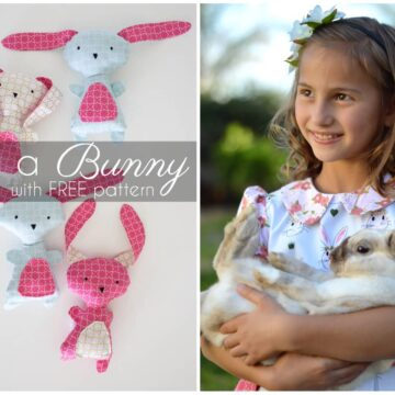 Cute ideas for Easter Sewing Projects, an Easter Dress and DIY Stuffed Easter Bunny Pattern
