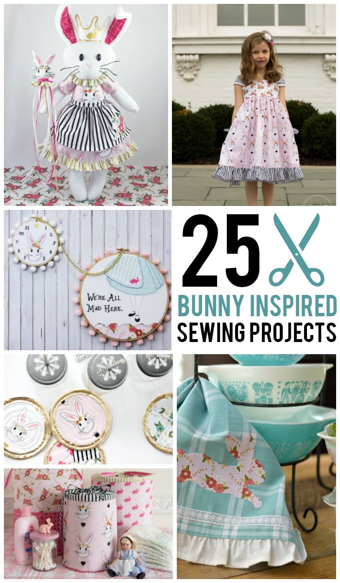 Sewing Project Fabric Basket Tutorial: More Than 25 Bunny Inspired Sewing Projects