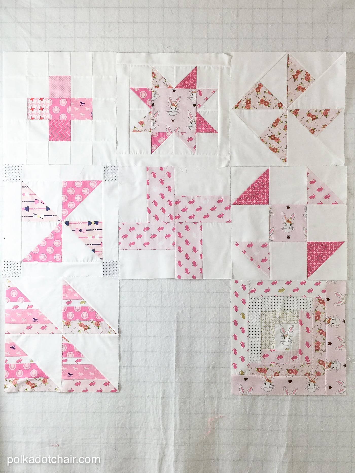 April Block Of The Month Log Cabin Quilt Block Tutorial The Polka