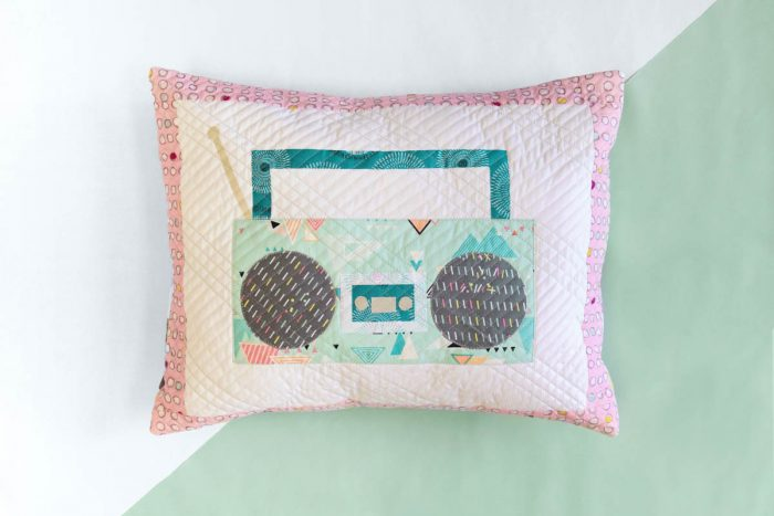 Joyful Beats Pillow Sewing Tutorial on We All Sew