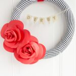 DIY Paper Flower Wreath Tutorial; a Kentucky Derby Decoration Idea